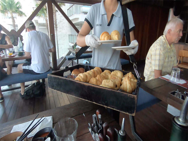 DOUBLE SIX LUXURY HOTEL SEMINYAK review breakfast buns fresh
