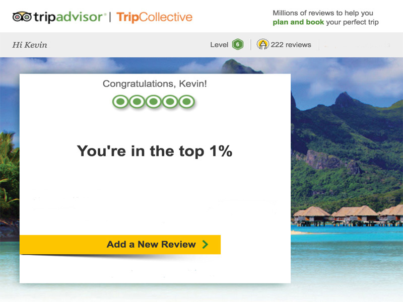 TRIP ADVISOR Top 1% reviewer in Western Australia